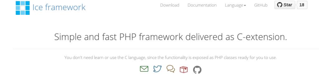 Fast PHP framework   Ice framework